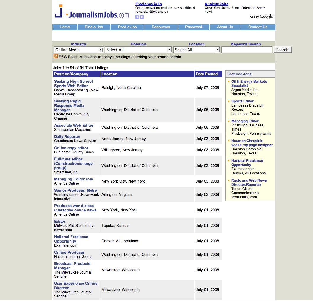 Resume clips journalism